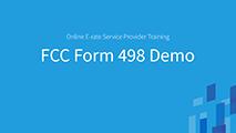 Beginners FCC Form 498 Demo