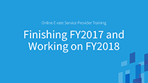 Beginners Finishing Funding Year (FY) 2017 and Working on FY2018
