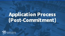 Beginners Application Process (Post-Commitment)