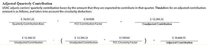 Example of a Contribution Obligation for the Quarter